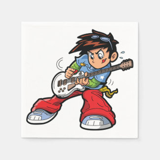 Anime Rock Star Paper Napkins