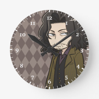 Anime Sirius Black Round Clock