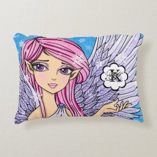Anime Snow Angel Personalizabel art print Decorative Cushion