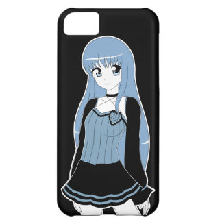 Anime style Monochrome Girl iPhone 5C Cases