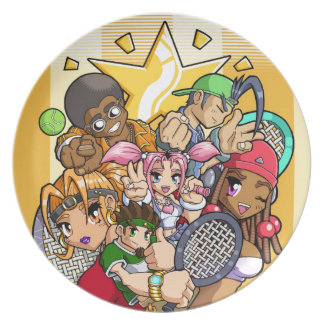 Anime Tennis Characters Dinner Plates