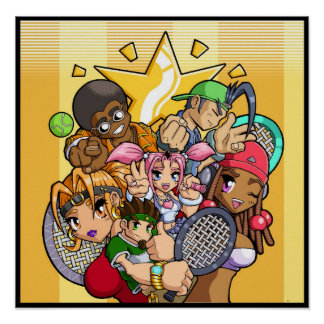 Anime Tennis Characters Poster