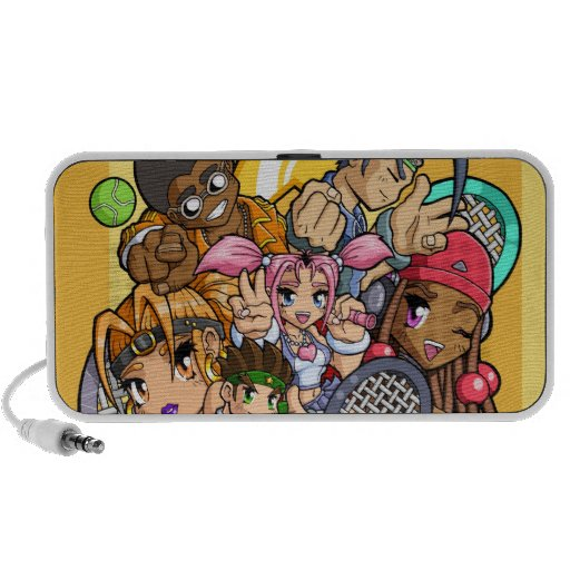 Anime Tennis Characters Speaker System