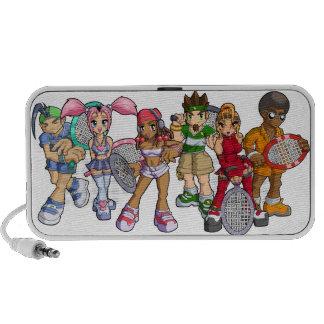 Anime Tennis Characters Laptop Speakers