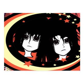 Anime Twins Postcards