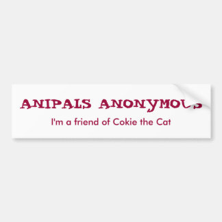 Anipals Anonymous Bumper Sticker