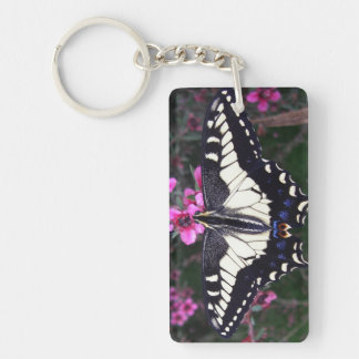 Anise Swallowtail Butterfly Rectangle Keychain