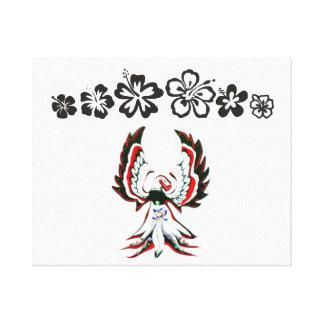 Anishinaabe Thunderbird Flower Canvas Print