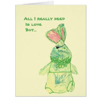 "Anita Bunny Big ""Funny"" Card Vertical All Sizes"