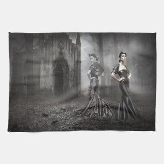 Anixias Ghost of twin sister Tea Towel