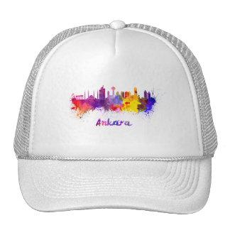 Ankara skyline in watercolor cap