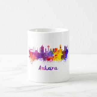 Ankara skyline in watercolor coffee mug
