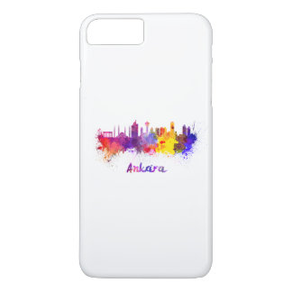 Ankara skyline in watercolor iPhone 8 plus/7 plus case