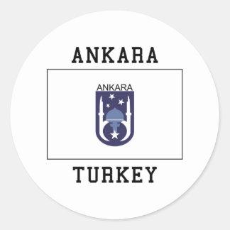 Ankara Turkey Classic Round Sticker