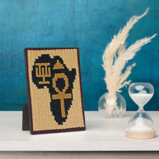 Ankh Africa Adinkra Symbol Crochet Free Standing Plaque