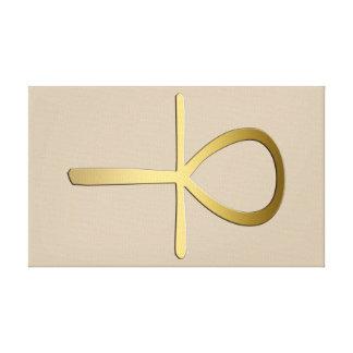 Ankh cross Egyptian symbol Canvas Prints