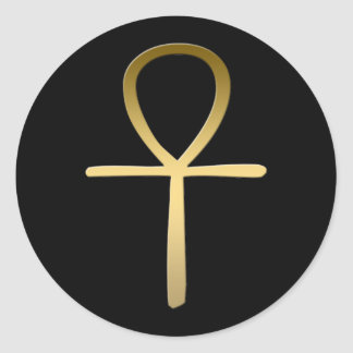 Ankh cross Egyptian symbol Classic Round Sticker