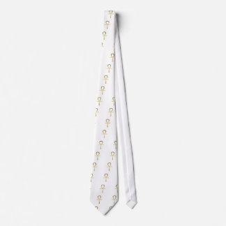 Ankh cross Egyptian symbol Tie