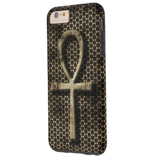 Ankh Eternal Life Symbol Grunge Metal Look Tough iPhone 6 Plus Case