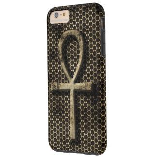 Ankh Eternal Life Symbol Grunge Metal Look Tough iPhone 6 Plus Case