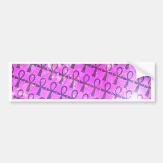 Ankh Pattern Bumper Sticker
