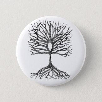 Ankh  Tree of LIfe Design 6 Cm Round Badge