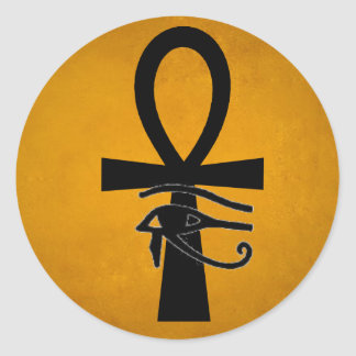 Ankh with Horus Eye Classic Round Sticker