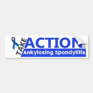 Ankylosing Spondylitis Bumper Sticker Find Cure