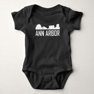 Ann Arbor Michigan City Skyline Baby Bodysuit