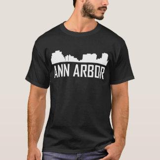 Ann Arbor Michigan City Skyline T-Shirt