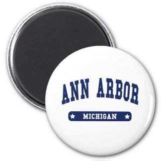Ann Arbor Michigan College Style t shirts Fridge Magnets