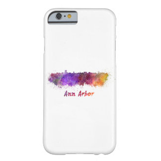 Ann Arbor skyline in watercolor Barely There iPhone 6 Case