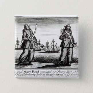 Ann Bonny and Mary 15 Cm Square Badge