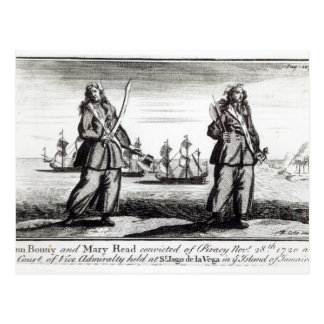 Ann Bonny and Mary Postcard