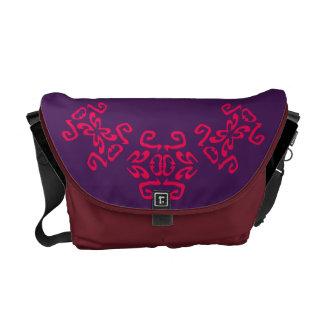 Ann Purple & White Classy Commuter Bag