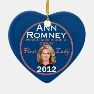 Ann Romney First Lady Ceramic Ornament