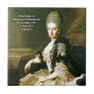 Anna Amalia of Brunswick-Wolfenbuttel 1739-1807 Ceramic Tile