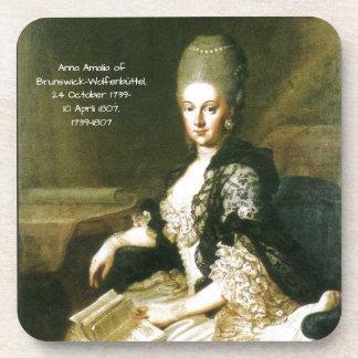 Anna Amalia of Brunswick-Wolfenbuttel 1739-1807 Coaster