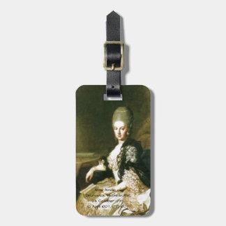Anna Amalia of Brunswick-Wolfenbuttel 1739-1807 Luggage Tag
