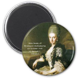 Anna Amalia of Brunswick-Wolfenbuttel 1739-1807 Magnet