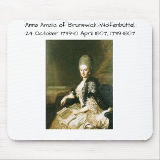 Anna Amalia of Brunswick-Wolfenbuttel 1739-1807 Mouse Pad