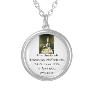 Anna Amalia of Brunswick-Wolfenbuttel 1739-1807 Silver Plated Necklace