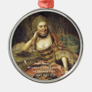 Anna Amalia of Brunswick-Wolfenbuttel 1739 Metal Ornament