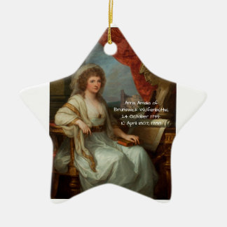 Anna Amalia of Brunswick-Wolfenbuttel 1788 Ceramic Ornament