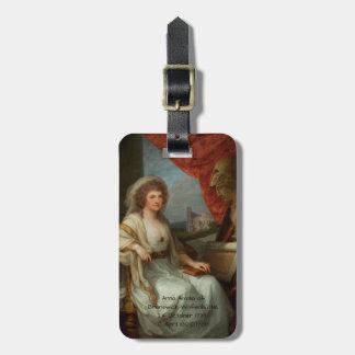 Anna Amalia of Brunswick-Wolfenbuttel 1788 Luggage Tag