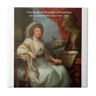 Anna Amalia of Brunswick-Wolfenbuttel 1788 Tile
