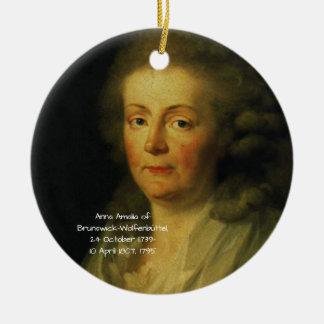 Anna Amalia of Brunswick-Wolfenbuttel 1795 Ceramic Ornament