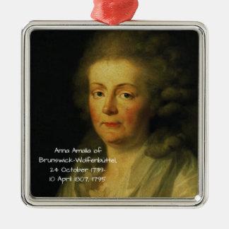 Anna Amalia of Brunswick-Wolfenbuttel 1795 Metal Ornament