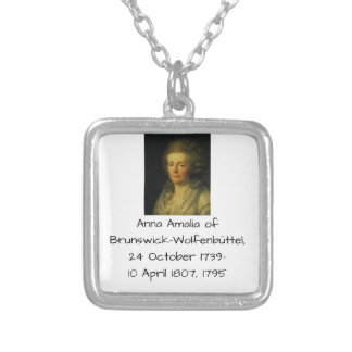 Anna Amalia of Brunswick-Wolfenbuttel 1795 Silver Plated Necklace