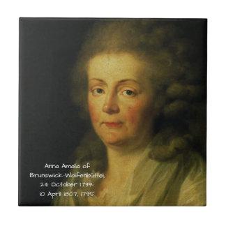 Anna Amalia of Brunswick-Wolfenbuttel 1795 Tile